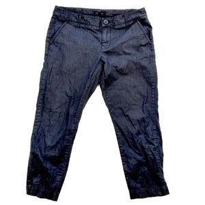 Tommy Hilfiger Chambray Denim Capri Crop Trousers